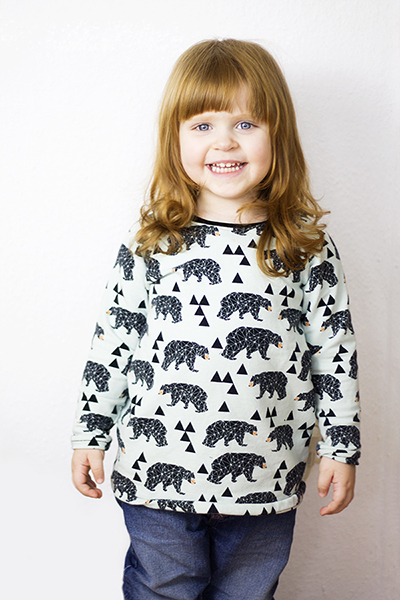 Raglankleid Triangles Bear