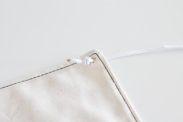 Wimpel bedrucken und nähen - Kordel klein