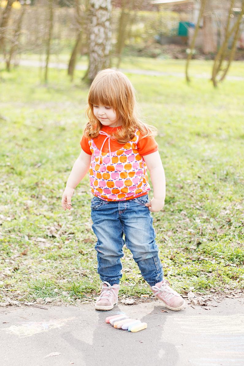 Kurzarm Bogi Shirt für Emma nach dem Schnitt von Annas-Country aus dem Apfel Jersey von byGraziela