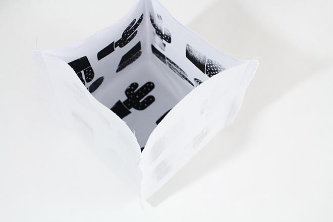 Lovely Label Druckrausch - Anleitung Drucken mit Schablone und Utensilo nähen