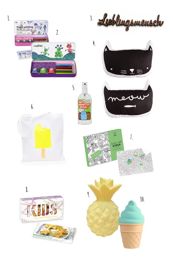 Zehn kleine Geschenke für Kinder