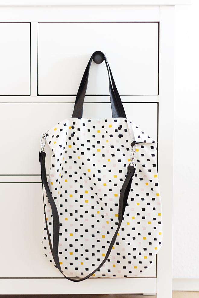Simple Tote Bag - Gratis Anleitung mit Schnittmuster + Verlosung