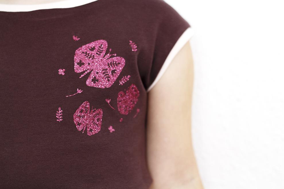 Anleitung Rock für jede Größe selber nähen - mit Plotter Freebie Schmetterlinge