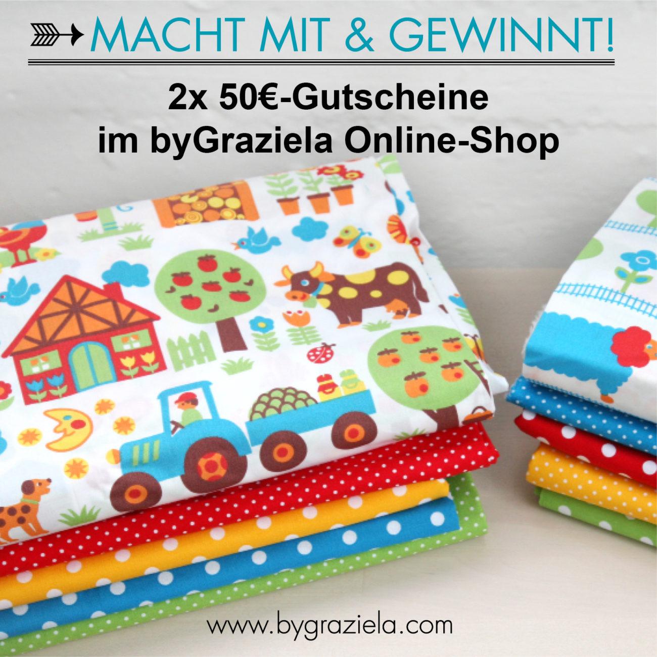 Anleitung Kissenbezug mit Bommelborte nähen - Gewinnspiel mit byGraziela