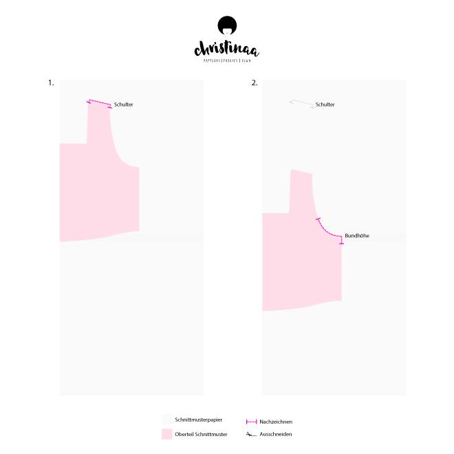 DIY Frühlings-Hop - Wie du ein Schnittmuster für ein Wendekleid konstruierst und dieses nähst
