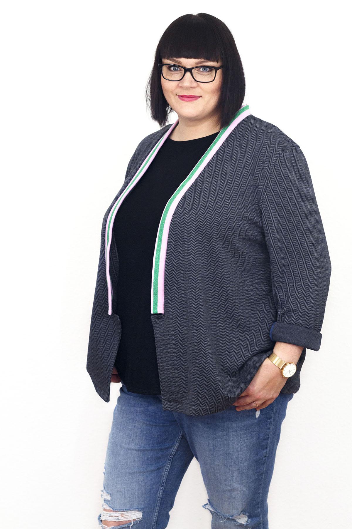 Schnittgeflüster Blazer Jona und Shirt Stella | Curvy Sewing