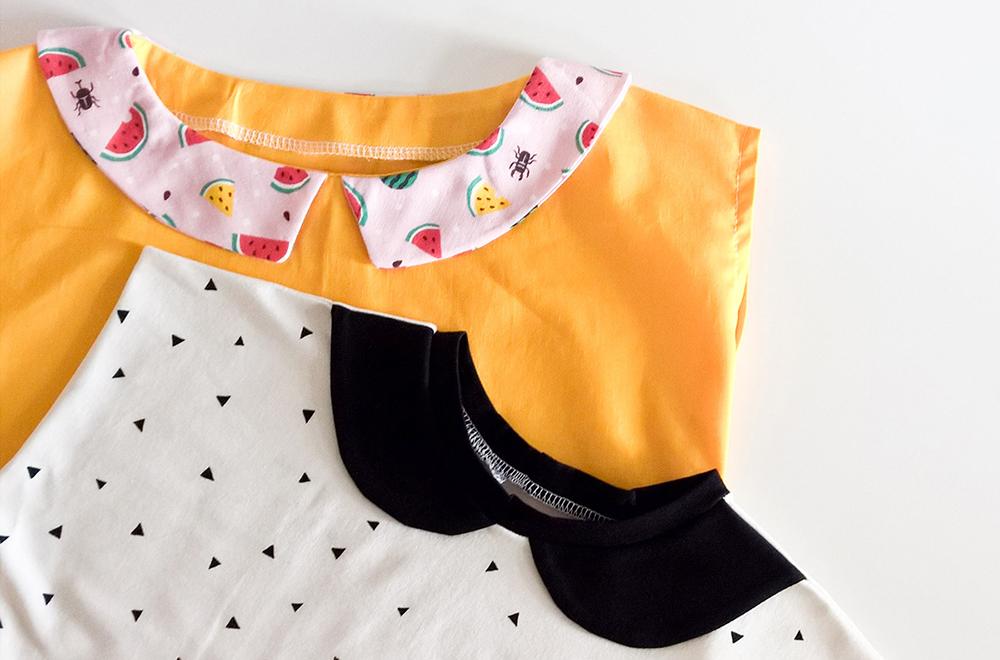 DIY Anleitung Bubikragen fuer jedes Shirt selbst konstruieren - DIY Tutorial Peter Pan Collar